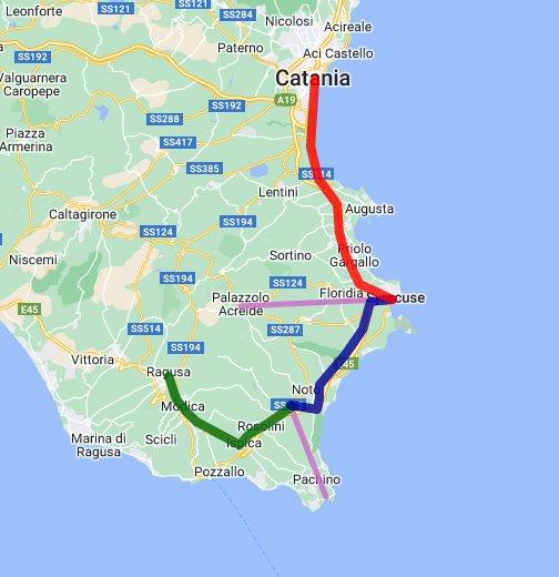 Cartina Geografica Sicilia Sud Orientale.Bus Sicilia Sud Orientale Google My Maps