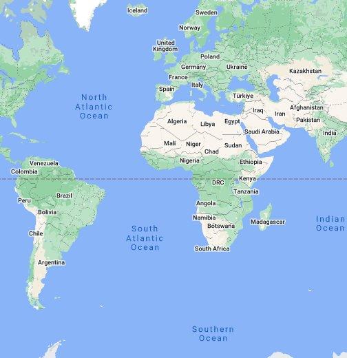 Trinidad On World Map Trinidad and Tobago   Google My Maps