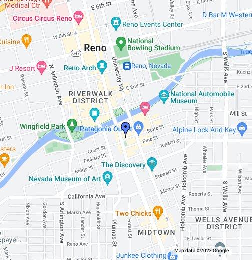 Reno Nevada Google My Maps