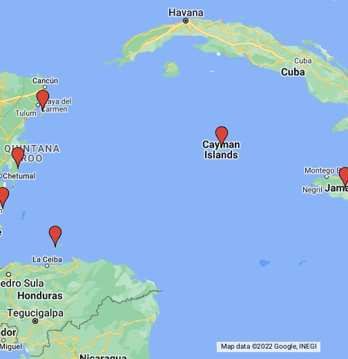 Map of Western Caribbean