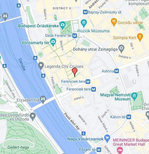 Siesta cipő - Haris köz 3. (Ferenciek terénél) – Google Saját térképek 75f5dfcb13