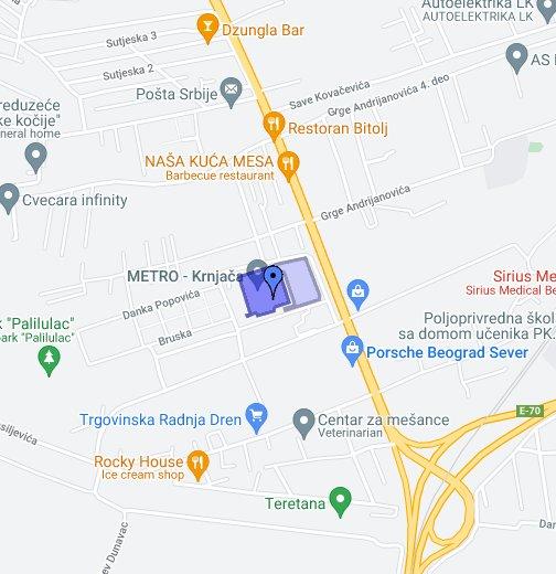 krnjaca mapa METRO Cash & Carry Srbija   Beograd, Krnjača   Google My Maps krnjaca mapa