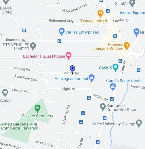 Kingston (Jamaica) - Google My Maps