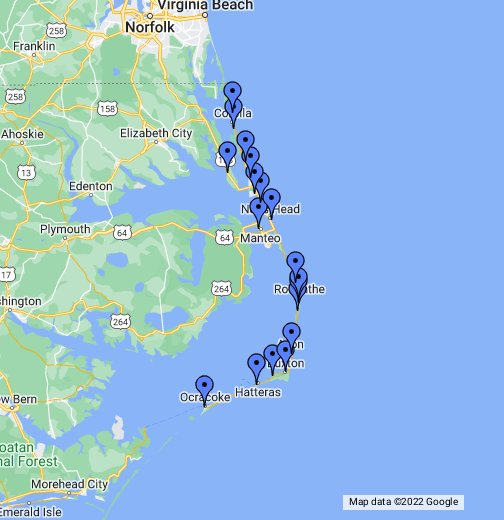 map of the outer banks nc with Viewer on Kids Cove Playground together with beaufort Nc further Seafood Restaurants also Viewer likewise Great Sand Dunes Np.