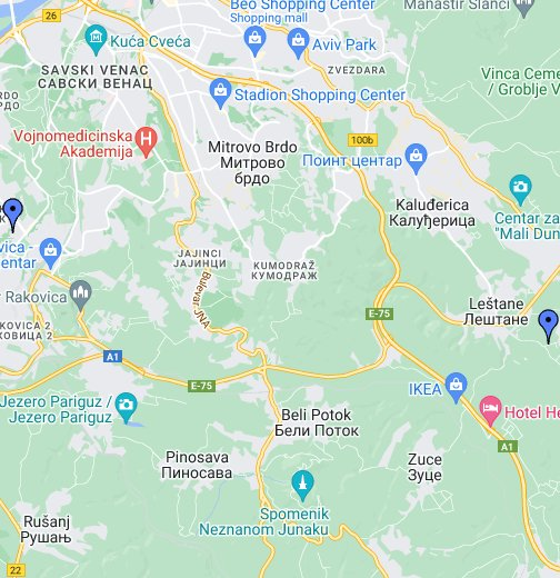 besplatna mapa beograda Interaktivna besplatna mapa Beograd   Google My Maps besplatna mapa beograda