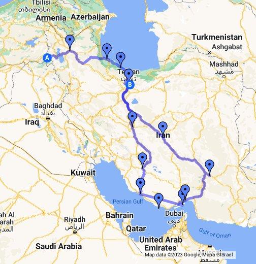 mapa dubai google maps Iran   planned route   Google My Maps mapa dubai google maps