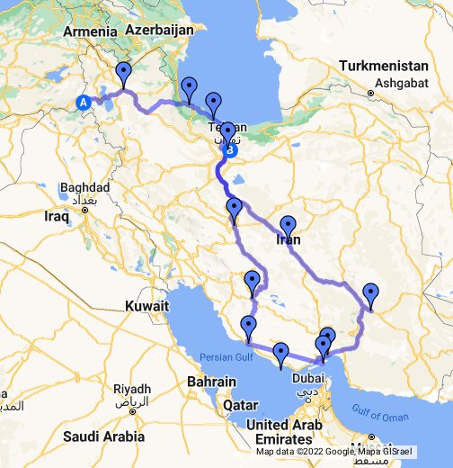 Iran planned route google my maps gumiabroncs Choice Image