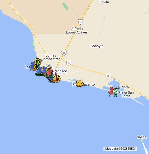 Rocky Point Puerto Penasco Google My Maps