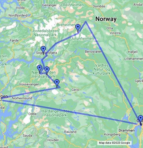 Norway - Google My Maps