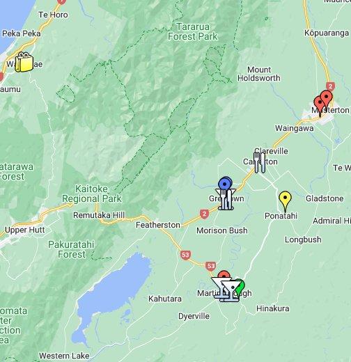 Wairarapa New Zealand Map.Wairarapa Google My Maps