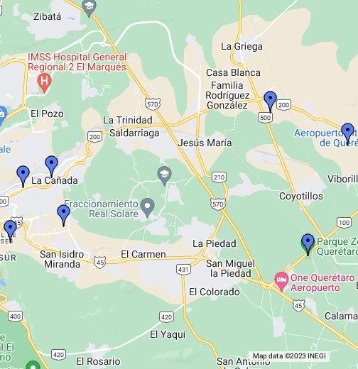 Lugares De Interes En El Marques Quer 233 Taro Google My Maps