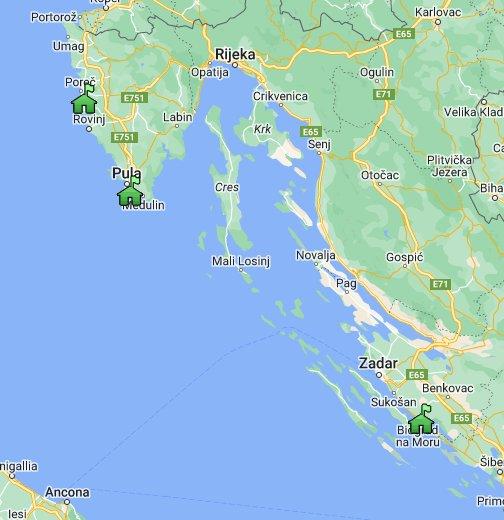Karta Hrvatske Google My Maps