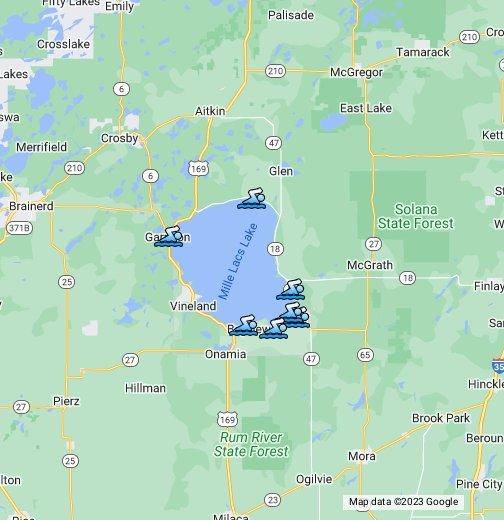 Mille Lacs Lake Beaches   Google My Maps