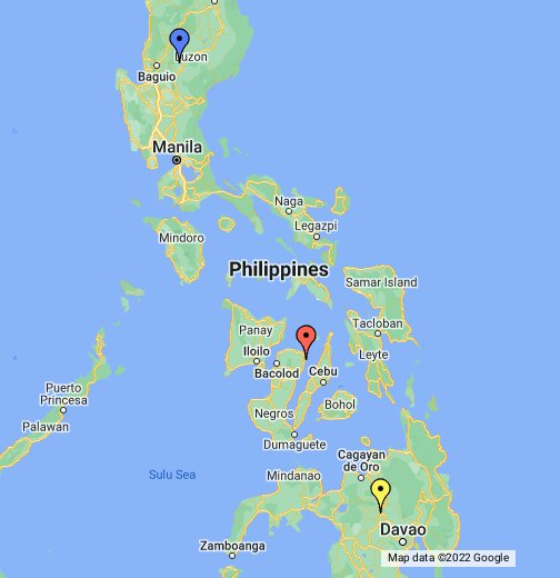 Google Earth Map Philippines Google Philippine Map   by Philtrack   Google My Maps