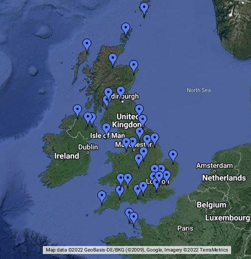 uk airports on map Uk Airports Google My Maps uk airports on map