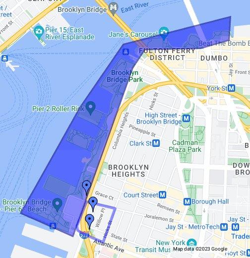 Brooklyn Heights Subway Map.Willowtown Brooklyn Heights Google My Maps