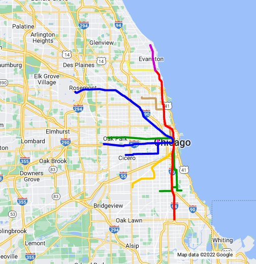 Chicago Transit Map - Downtown chicago map pdf