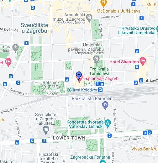 Hotel Esplanade Zagreb Google My Maps