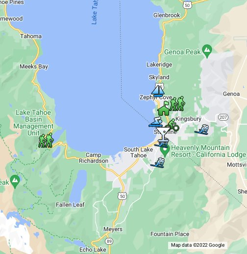 zephyr cove lake tahoe map South Lake Tahoe Google My Maps zephyr cove lake tahoe map