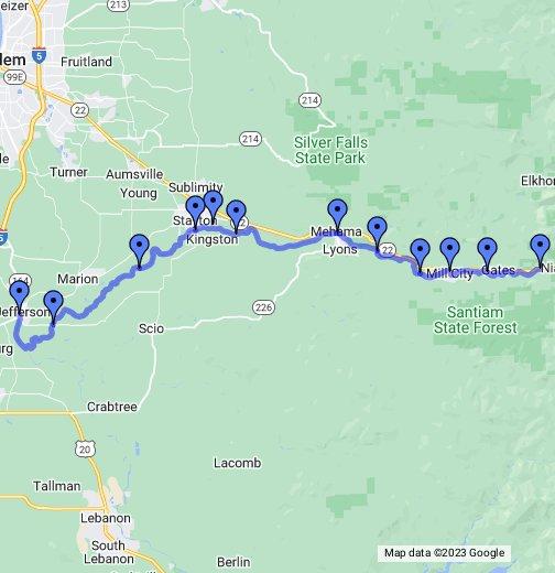 map of stayton oregon North Santiam River Oregon Google My Maps map of stayton oregon