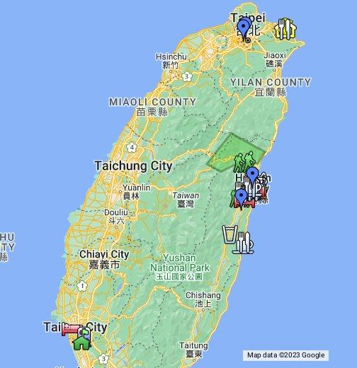 Taiwan Tourist Map Google My Maps
