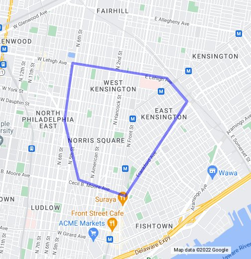 map of kensington philadelphia West Kensington Google My Maps map of kensington philadelphia