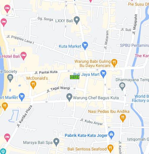 Map Of Kuta Bali Google My Maps