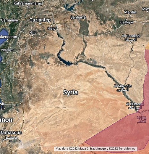 Thread by suriyakmaps we started a new year i hope the last of syrian civil war irak map 2017 google my maps syria irak gumiabroncs Gallery