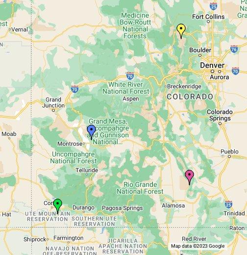 Colorado National Parks - Google My Maps