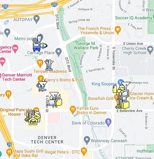 Denver, CO - Denver Tech Center (DTC) - Google My Maps on denver maps by neighborhood, denver city street map, denver art museum map, denver on map,