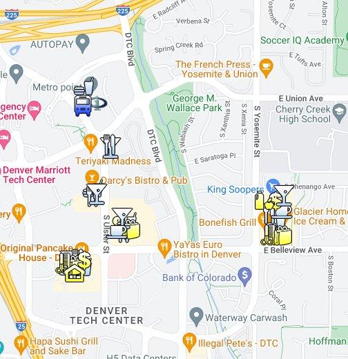 Denver, CO - Denver Tech Center (DTC) - Google My Maps on