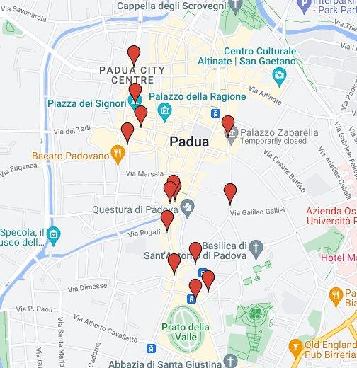La mappa dei negozi cinesi in centro a padova google my maps for Negozi arredamento padova