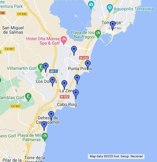 Orihuela Costa Costa Blanca Spain Google My Maps