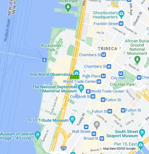 Google Map Of New York City.Map Of One World Trade Center New York City Google My Maps
