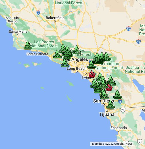 Los Angeles Times Fire Map   Google My Maps