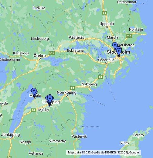 szwecja mapa Szwecja   Google My Maps