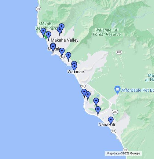 Leeward Coast Oahu - Google My Maps