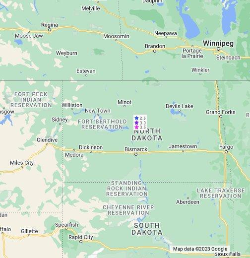 North Dakota Hotel Map - ND Cheap Lodging - Hotels, Resorts ...