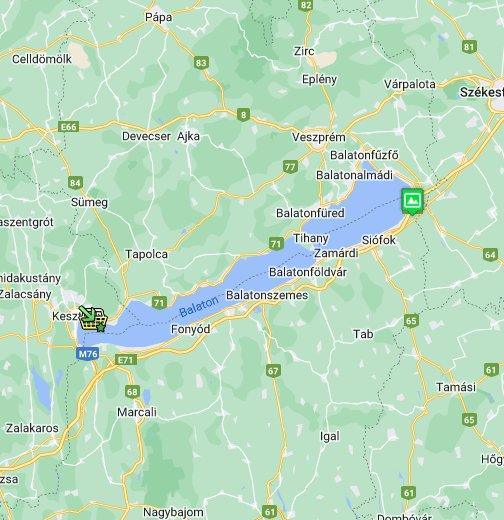 balaton gyenesdiás térkép Balaton térkép a Balaton Blogtól   Google My Maps balaton gyenesdiás térkép