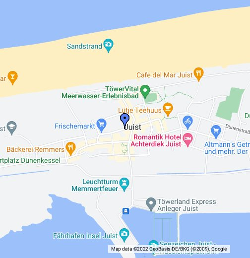Juist Karte.Juist Friesenstraße Google My Maps