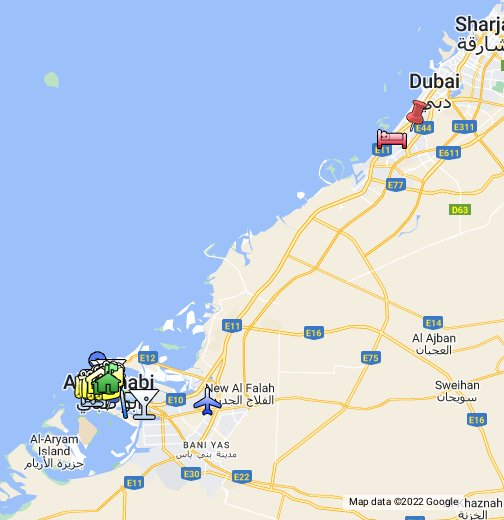 Map Of Abu Dhabi Abu Dhabi   Google My Maps