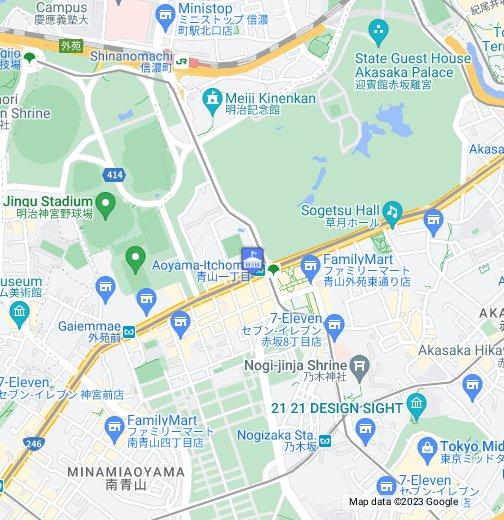 Aoyama Itchome On Subway Map.Tuvalu Embassy Tokyo Google My Maps