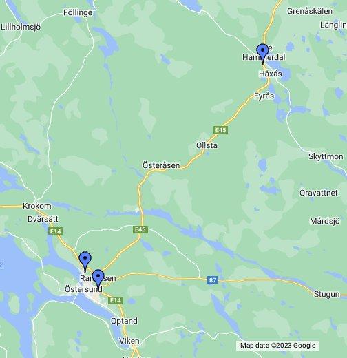 Jämtland - Jamtland sweden map