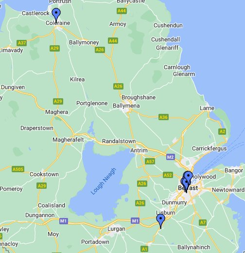 Map Of Ireland Google Maps.Map Northern Ireland Google Maps