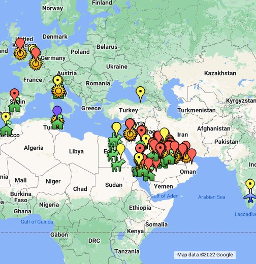 MERS Coronavirus Cases and Sequences - Google My Maps