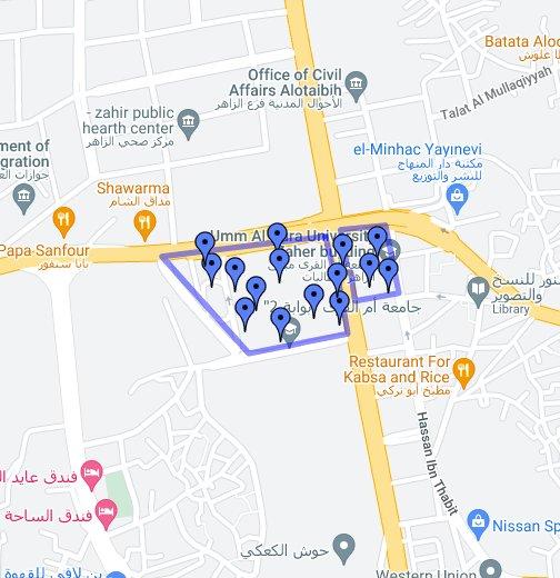 جامعة أم القرى الزاهر فرع الطالبات Google My Maps
