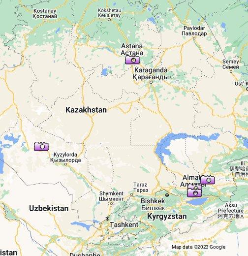 Kazakhstan On The World Map Kazakhstan World Map Location Picture