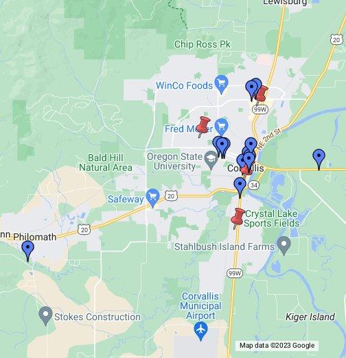 Oregon State Map Google | Campus Map