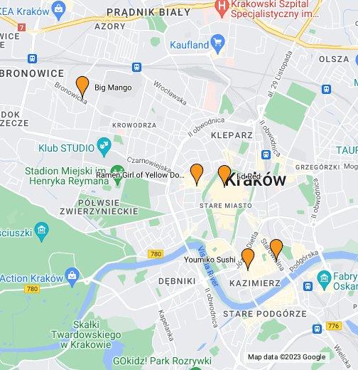 Kraków - Google My Maps