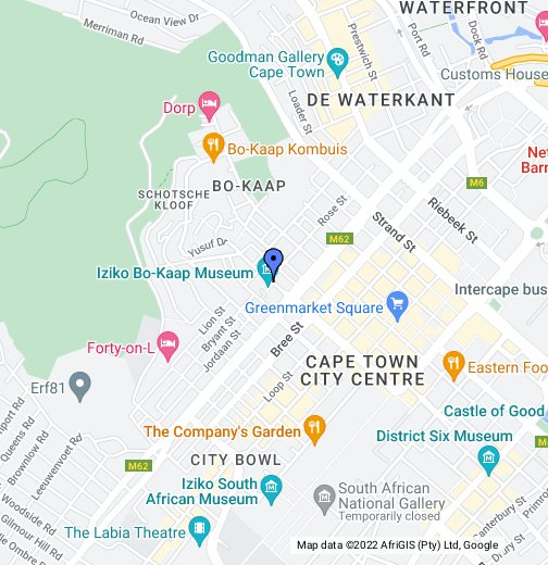 Bo-Kaap neighbourhood, Cape Town, South Africa - Google My Maps on